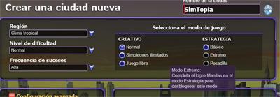 Captura del juego en el que se muestran los nuevos modos de estrategia